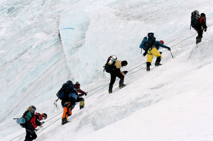 climbers on everest